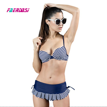 Polka dot Womens Sexy Plus Size Bikini Set Swimsuit Push Up Bra and Drawstring Bottom Padding Sproty Swimwear Adjustable Strap цена