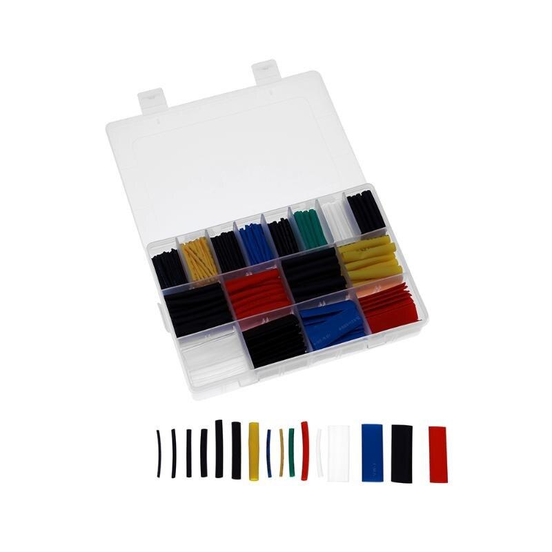 580 teile/satz Schrumpf Schlauch Isolierung Schrumpf Schlauch Sortiment Elektronische Polyolefin Verhältnis 2:1 Wrap Draht Kabel Hülse Kit