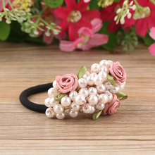 Fashion Beaded Floral Elastic Hair Bands Set
