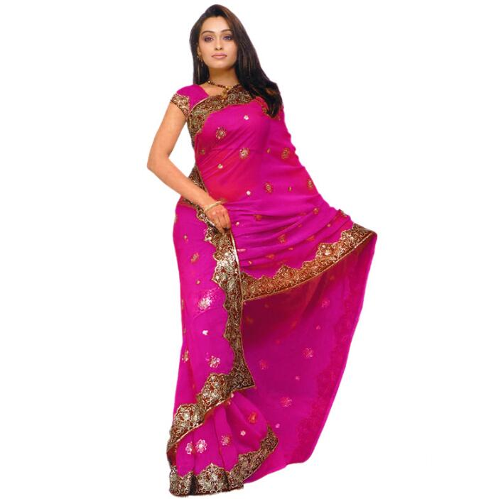 <font><b>India</b></font> Sarees Fashion Woman Ethnic Styles Embroidery Sarees Beautiful Dance Costume Lady Long Comfortable Clothing image