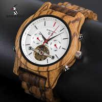 BOBO oiseau mécanique montres hommes haut marque de luxe en bois montre homme automatique W-Q27