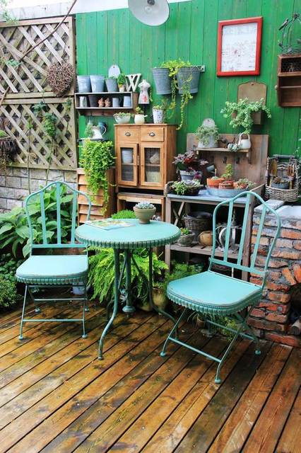 American French Country Home Decor Creative Personality To Do The Old Wrought Iron Patio Chairs Set Decoration