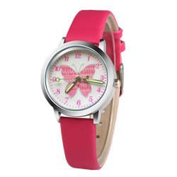 2018 модный бренд дети милые красочные бабочки мультфильм световой часы мальчик кварцевые часы девушка часы детский день подарок