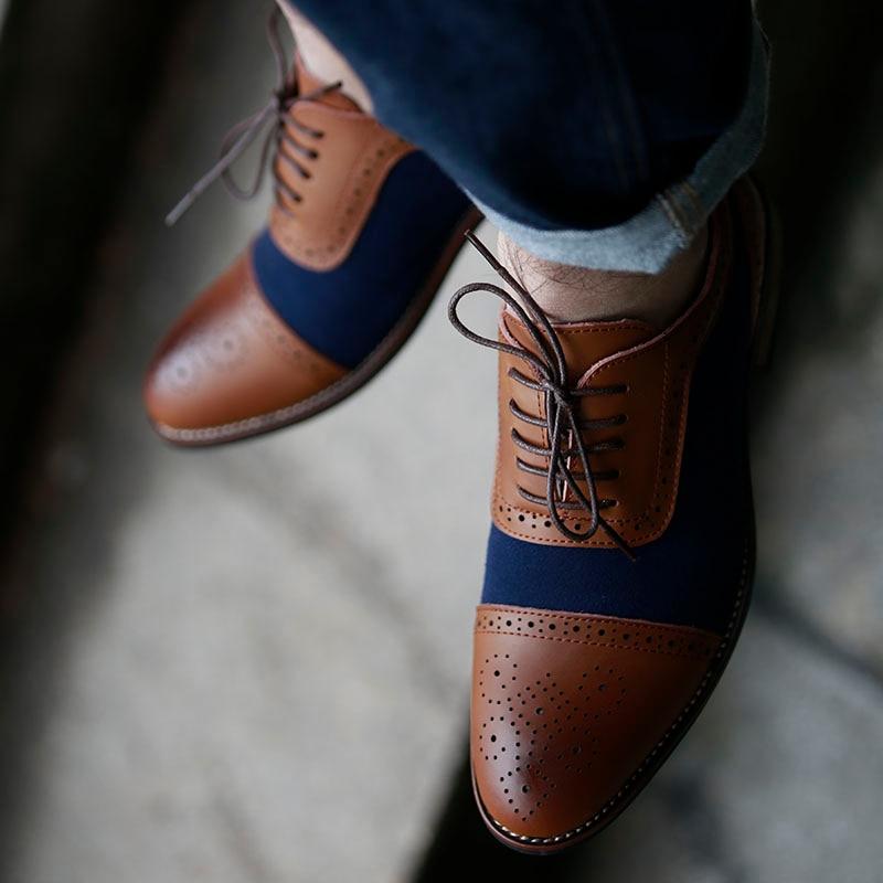 D'affaires Richelieus 104 Mariage Pointu Homme De Marron Cuir Printemps En Chaussures Habillées Brm Masorini Pour Véritable 2019 Hommes Hqxawg55P