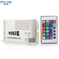 Freies Verschiffen 12-24 V 24 Schlüssel Drahtlose Ir-fernbedienung RGB Musik Sound-Controller Dimmer für RGB LED Streifen
