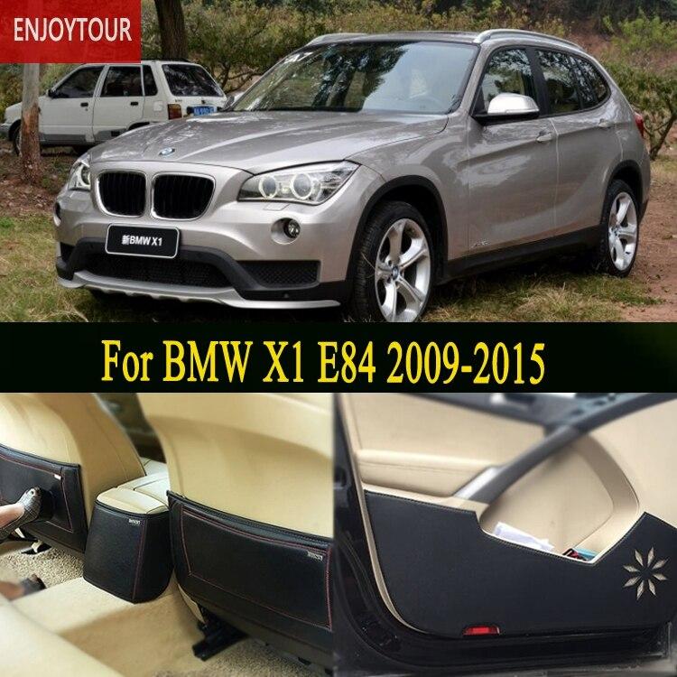 Tapis de voiture siège de porte avant arrière Anti-coup de pied accessoires de voiture pour BMW X1 E84 2009 2010 2011 2012 2013 2014 2015