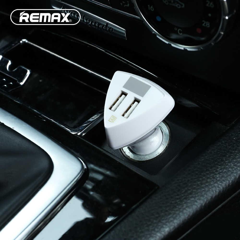 Remax Dual USB Автомобильное зарядное устройство 3.4A 5 В в Быстрая зарядка умный автомобиль-переходник для зарядного устройства 12 В -В 24 В с напряжением/светодио дный током цифровой светодиодный дисплей