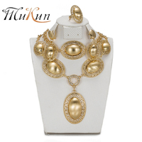 SHILU Indian Fashion Jewelry Sets The Oval Women Necklace Necklace Bracelet Earrings Ring Dresses Bridal Accessories