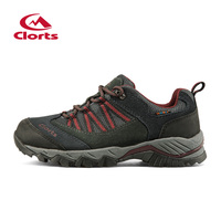 Clorts Trekking Shoes For Men Hiking Shoes Suede Leather Mountain Outdoor Shoes Breathable Climbing Shoes HKL