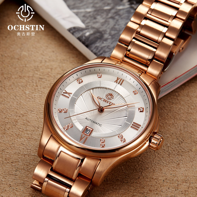 OCHSTIN Watches Men Automatic Full Steel Army Men's Military Sports Watch Luxury Gold Wristwatch Male Clock Relogios Masculino