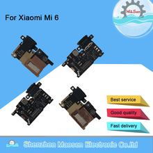 Originele M & Sen Voor Xiaomi 6 Mi 6 Mi6 M6 Opladen Fast Charger Dock Connector Port Board Micro Flex kabel Usb Met Vinger Unlock