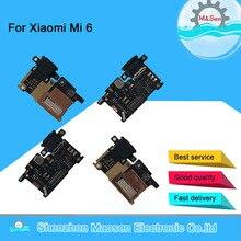 オリジナルm & センxiaomi 6 mi 6 Mi6 M6充電急速充電器dockコネクタポートボードマイクロフレックスケーブルusb解除