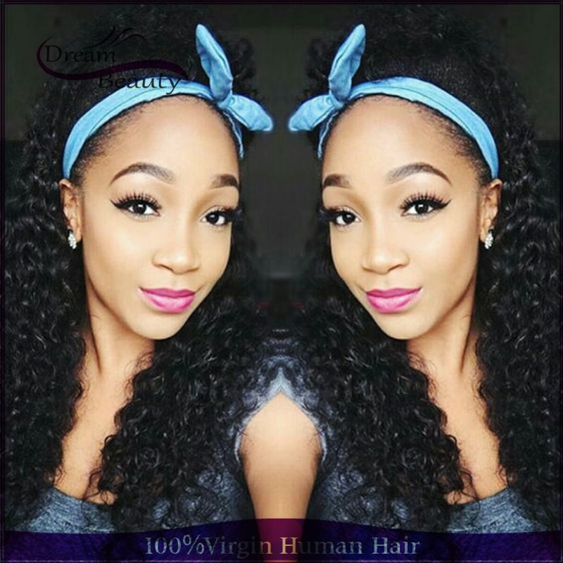 180% Density Kinky Curly Human Hair Wigs Virgin Brazilian Full Lace Wig With Baby Hair Glueless Human Hair Lace Front Wig