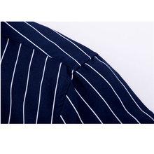 2018 Men Casual Long Sleeved Striped Shirt Slim Fit Male Social Business Dress Shirt Brand Man Soft Comfortable Shirts YN10322
