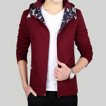 2016 High Quality Jacket Men Spring Autumn Casual Jacket Slim Cotton Hood Mens Jackets And Coats Plus Size HJ503