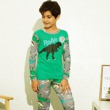 New Children Pajamas Set Kids Girl Boys C Casual long sleeve Sleepwear Nightgown 6-10Y