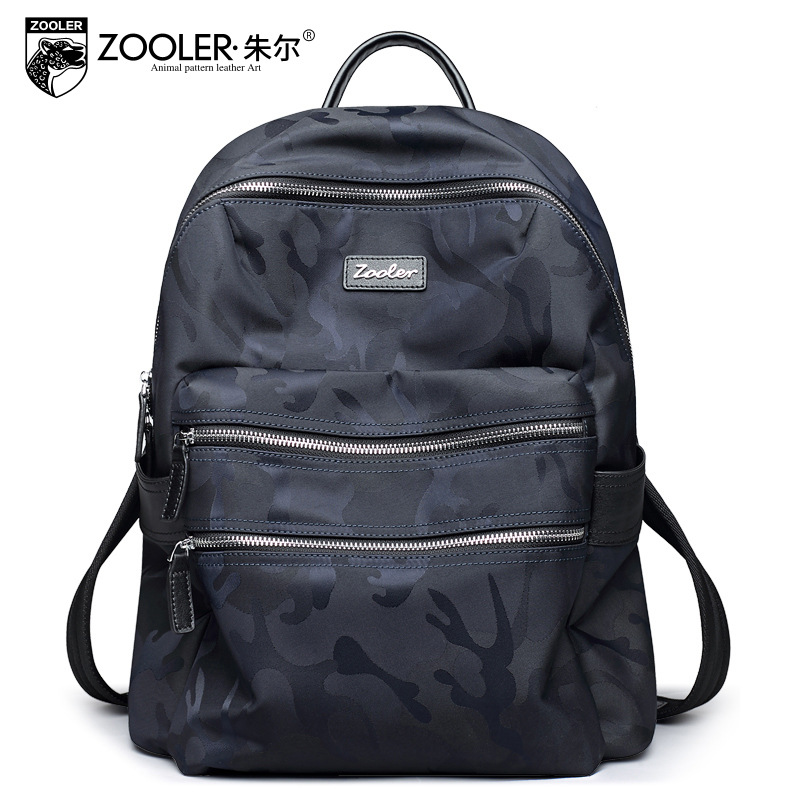 ZOOLER Men's Shoulder Bag Leisure Travel Genuine Leather Backpacks Waterproof Nylon Student Mochila Preppy Style School Backpack anime tokyo ghoul cosplay anime shoulder bag male and female middle school student travel leisure backpack