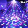 9 цветов 27 Вт кристалл магический шар из светодиодов этап 21 режима мини-дискотека лазерного света светомузыкальный шар звуковой контроль цветомузыка рождественская лазерный проектор