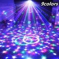 9 Cores 27 W Cristal Magic Ball Led Stage Lâmpada 21 Modos de Discoteca Luzes Do Partido Natal Controle De Som Luz Laser Projetor Laser