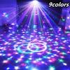 9 Colors Crystal Magic Ball Led Stage Lamp KTV Laser Light Bar Lights Sound Control Music