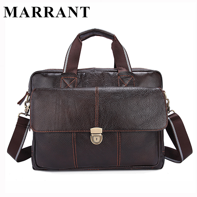 ФОТО MARRANT Genuine Leather Men Bags Hot Sale Man Messenger Bag Cowhide Leather Men's Briefcase Male Crossbody Shoulder Handbag 315