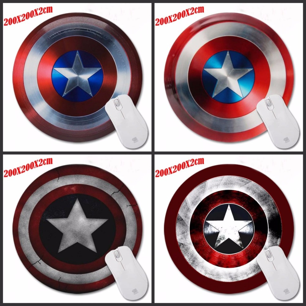 Personality Captain America Design Painting Round font b Gaming b font Mouse Pad Super Hero Series