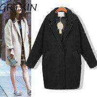 Hot sale Cocoon coat women coat female overcoat female spring autumn slim blend woolen coat woolen outerwear casaco winter