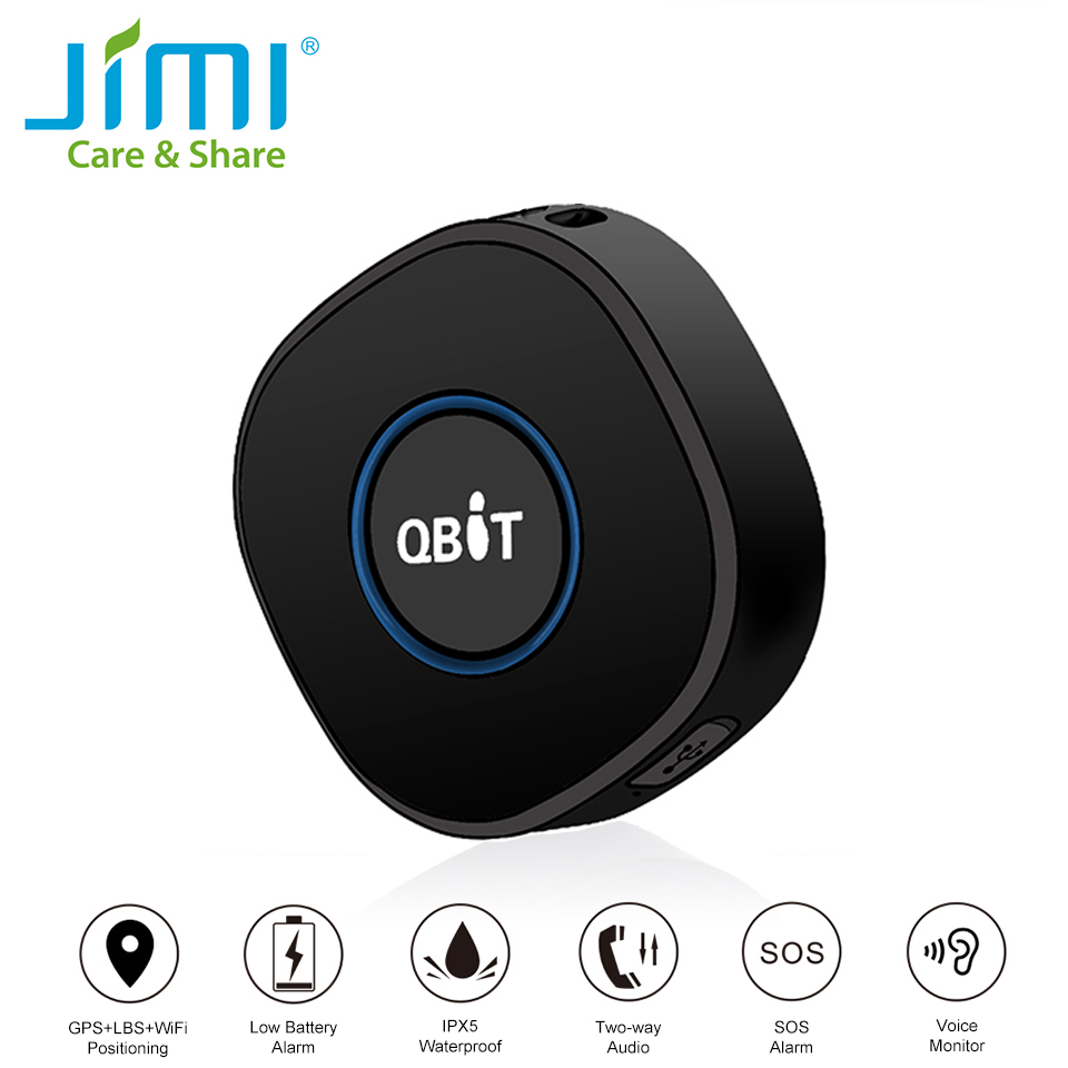 Concox Qbit Mini GPS Tracker Children GPS Locator With Voice Monitor SOS Call APP And Website Real Time GSM Portable GPS Tracker(China)