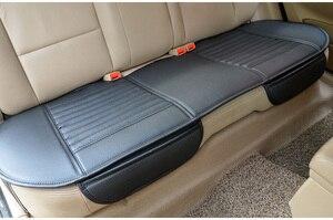 Image 1 - Чехлы для автомобильных сидений, чехлы для задних сидений, подушки для задних сидений из бамбуковой угольной кожи