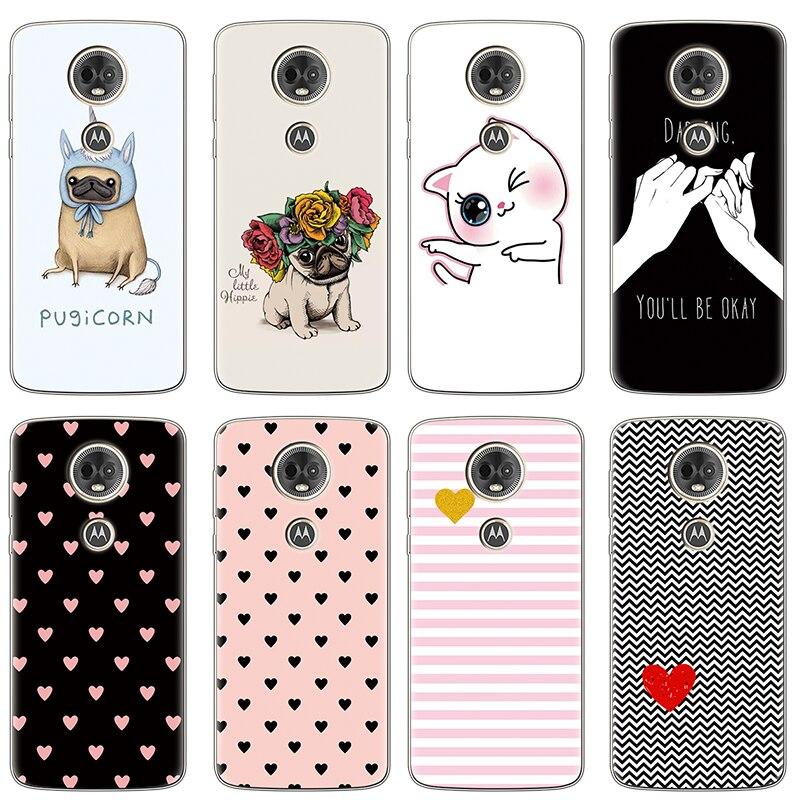 Love Heart Soft Silicon Cover Voor Motorola Moto G7 Power Eu C E5 G3 G4 G5 G5S G6 Plus Z z2 Z3 Z4 Spelen Eu Gaan Een Voor Moto G6 Case