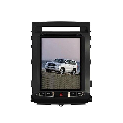 Бесплатная доставка 1 компл. Тесла Стиль ips Сенсорный экран многофункциональный DVD плеер для Toyota LC 200 2008 2015 автомобилей