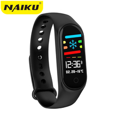 NAIKU M3S Smart Bracelet Color-screen IP67 Fitness Tracker blood pressure Heart Rate Monitor band For Android IOS phone