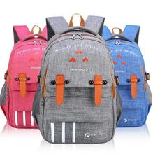 New leisure students school bags boys and girls waterproof canvas backpacks school bags school bags cheap willsrain Softback Polyester Unisex Interior Compartment Interior Zipper Pocket Preppy Style Retractable Air Cushion Belt