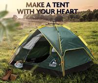 2018 Outdoor Automatic Speed Open Throwing Pop Up Waterproof Camping Tent 3 4 People Fully Rain