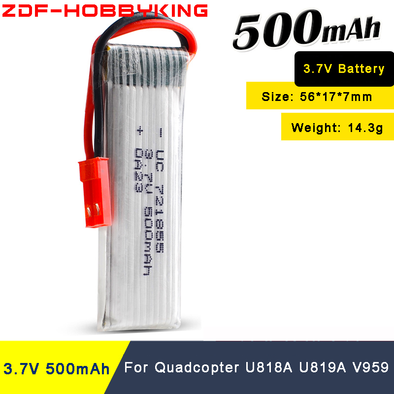 rc <font><b>lipo</b></font> <font><b>Battery</b></font> <font><b>3.7V</b></font> <font><b>500mAh</b></font> 20C Quadcopter V959 V222 H07N U818A High Endurance with voltage protection board image