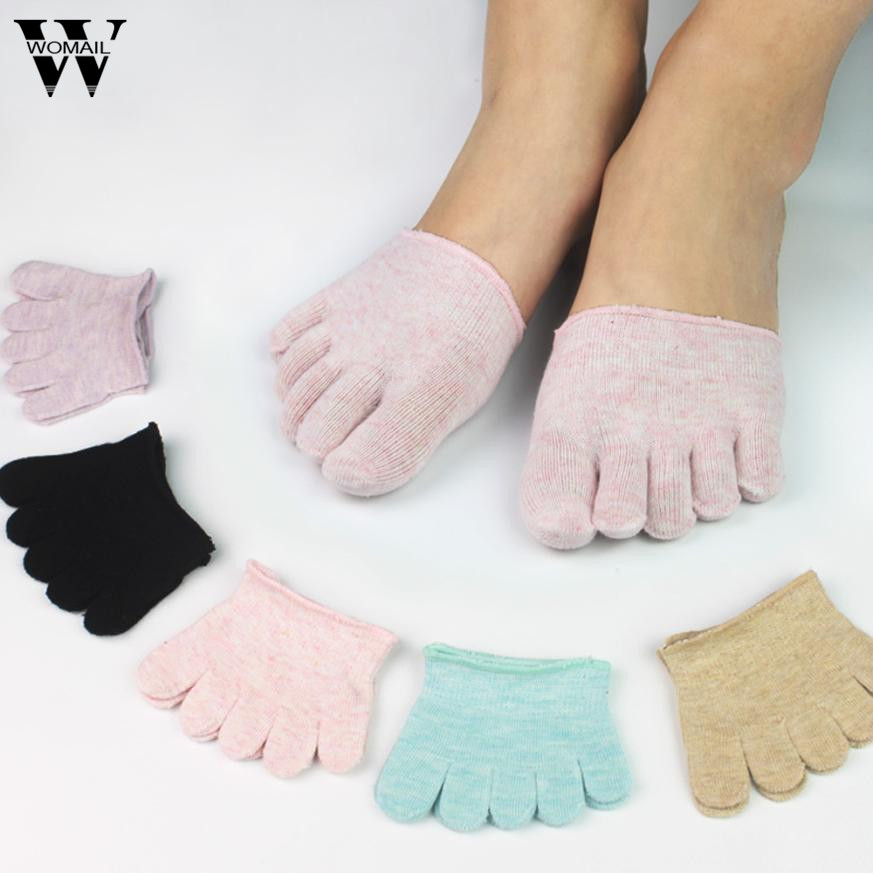 1 Pair Of Women Invisible Toe Socks Made Of Cotton Blend Material For Yoga Gym 5