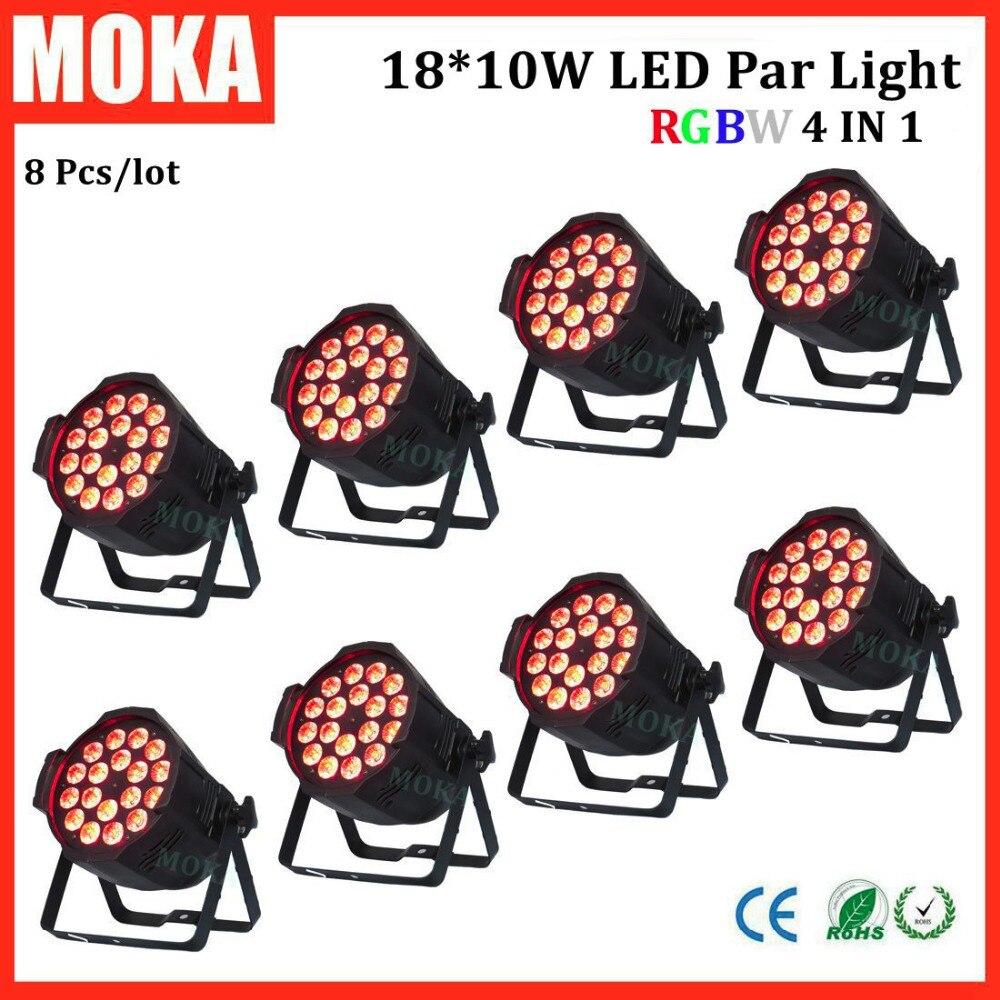 8 Pcs 170 w disco led par lumière rgbw 4 dans 1 en aluminium Plat led par lumière dmx led plafond lumière led lampe de poche