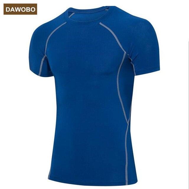 42d177c74e396 DAWOBO marque Hommes serré PRO sport vêtements de fitness tapis roulant  formation t-shirts Respirant
