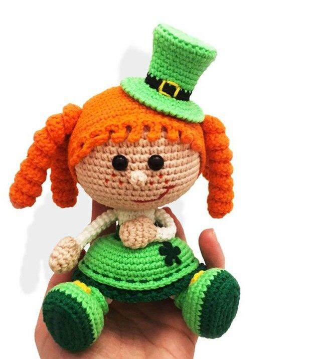 Jouets crochet amigurumi Amigurumi crochet filles poupée hochets nombre WS0049