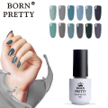 Popular 1 Bottle 5ml Born Pretty Fashion Chic Grey Series Nail UV Gel Soak Off Polish UV Glue DIY Nail Gel