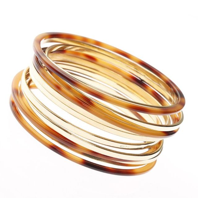 12Pcs/set Round Bangle...