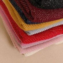 Hiyab de talla grande para mujer, hiyab plateado brillante de algodón, arrugado, con burbujas, pañuelos musulmanes/bufanda, 10 colores, 10 unids/lote
