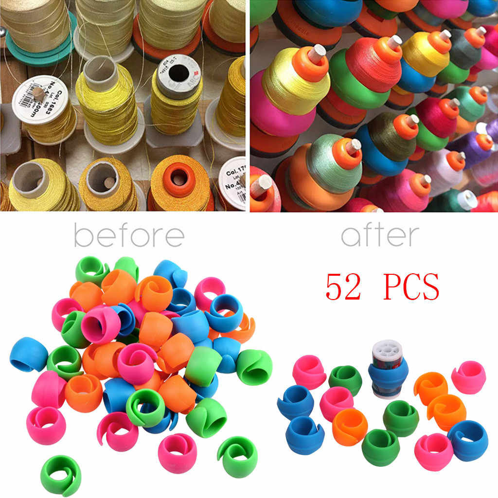 52 Pieces Bobbin Clips Holders Clamps Bobbin Buddies Great for Embroidery Quilting and Sewing Thread Sewing Machine Z320