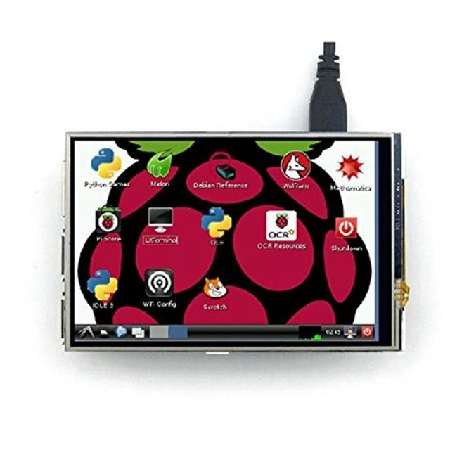4 дюймовый дисплей Elecrow Raspberry Pi с сенсорным экраном, ЖК TFT HD 480X320, Интерфейсный монитор Spi для Raspberry Pi A + B +/2B 3B
