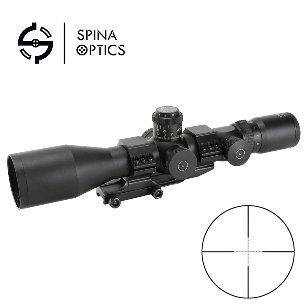 SPINA 3-12x50 Tactical Riflescope First Focal Plane MP Reticle 34MM Tactical Optics Scope With Dual Rail Mount For Hunting