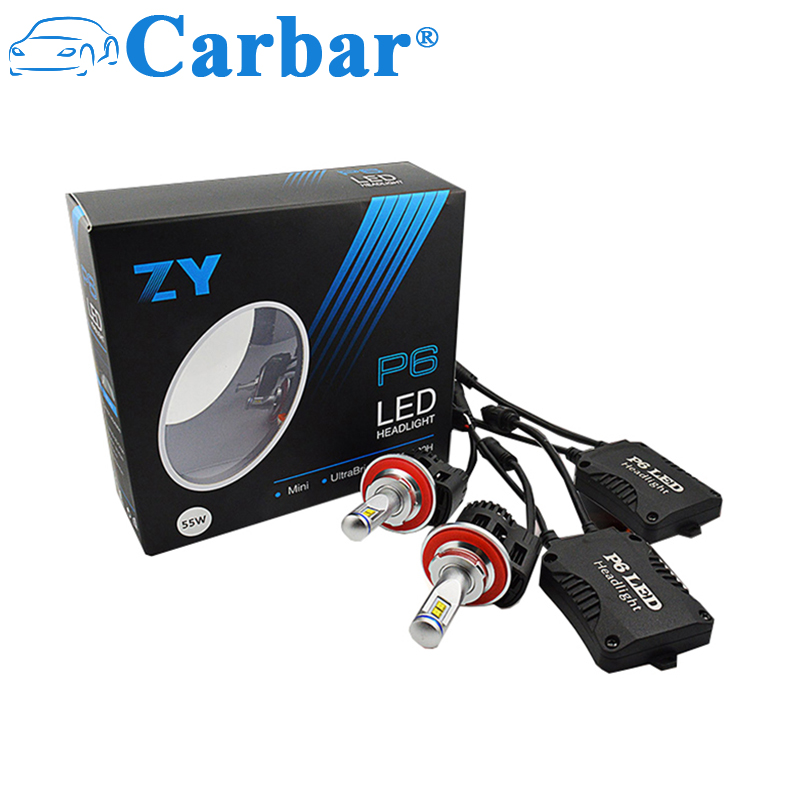 Carbar#P6 H13 Car LED Bulb 5200 Lumens 55W Extremely Bright Good Chips H13 9008 All-in-One LED Headlight Bulbs Conversion Kit