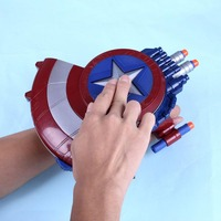 Super Hero Alliance Avenger Captain America Shield Soft Bullet For Kids Child