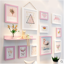 12pcs Nordic style decoration Wall Photo Frames Combination Set Wooden living room Wall Combination Vintage DIY Picture Frames