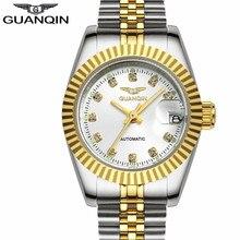 New Women's  Business Watches Automatic Self-Wind Date Women Dress Gold Steel Clock Luxury Top Brand Ladies Watch