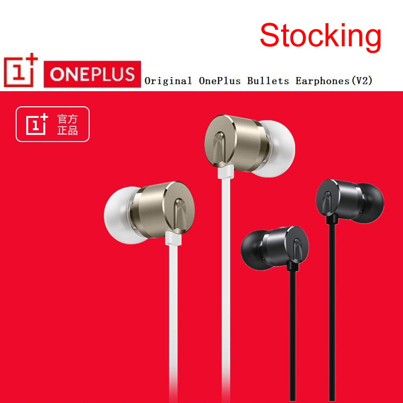 Stocking Original Oneplus in-ear Bullets V2 Earphone Volume Mic Control for Oneplus 5T 5 3T 3 2 1 A510 A310 Phone 1+ Earphone цена